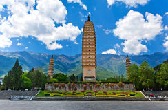 China Yunnan Dali Three Pagodas Imagem de Stock Royalty Free