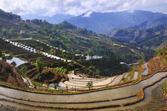 China Yunnan Hani Terrace Stock Photos