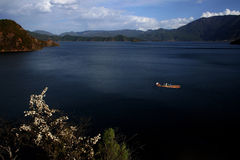 China Yunnan Lugu Lake scenery Royalty Free Stock Photography