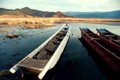 China Yunnan Lugu Lake scenery in winter Stock Photography