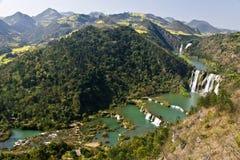 China Yunnan Luoping Kowloon falls group Stock Photography