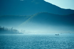 The China Yunnan morning Lugu Lake Stock Photo
