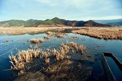 The China Yunnan morning Lugu Lake Stock Photos