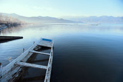 The China Yunnan morning Lugu Lake Stock Photography