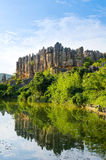 China Yunnan Stone Forest Scenic Spot is the ancient topography Royalty Free Stock Image