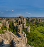 China Yunnan Stone Forest Scenic Spot is the ancient topography Stock Photos