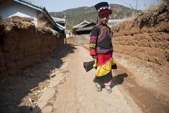China, Yunnan Yi little girl Royalty Free Stock Photography