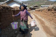 China, Yunnan Yi woman Royalty Free Stock Photo