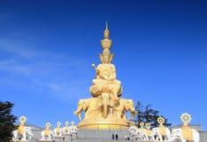 China zet Gouden Top Emei op royalty-vrije stock afbeeldingen