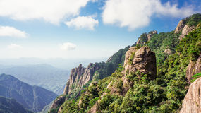 China zet Sanqingshan-landschap op royalty-vrije stock afbeeldingen