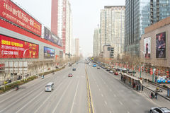 China Zhengzhou city street Royalty Free Stock Photography