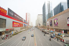 China Zhengzhou city street Royalty Free Stock Image