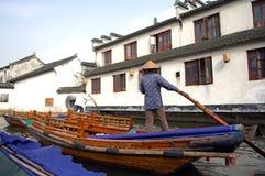 China, Zhouzhuang: Het dorp van het water Stock Afbeelding