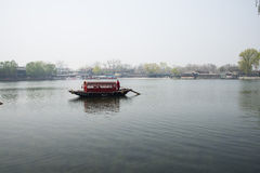 ChinaAsia, Beijing, the Shichahai scenic area, Sightseeing Boat Royalty Free Stock Images
