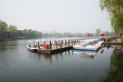 ChinaAsia, Beijing, the Shichahai scenic area, Sightseeing Boat Stock Image