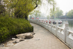 ChinaAsia, Beijing, the Shichahai scenic area, Sightseeing Boat Stock Photos