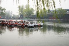 ChinaAsia, Beijing, the Shichahai scenic area, Sightseeing Boat Royalty Free Stock Photography