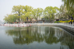 ChinaAsia, Beijing, the Shichahai scenic area, Sightseeing Boat Stock Images