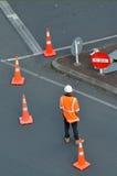 chinag建筑mai照片路被采取的泰国工作者 免版税库存图片