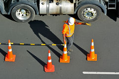 chinag mai κατασκευής ληφθείς εργαζόμενος της Ταϊλάνδης εικόνων δρόμος Στοκ Εικόνα