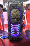 2013ChinaJoy:Skull shape of the computer chassis Royalty Free Stock Photo