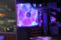 2013ChinaJoy: Equipamento refrigerando líquido do computador Imagens de Stock
