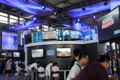 2013ChinaJoy: Intel-Spielstandort Stockbild