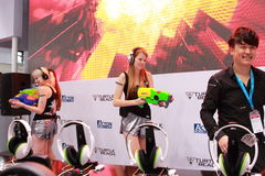 2013ChinaJoy: Momenti dello showgirl Fotografia Stock