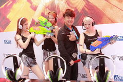 2013ChinaJoy Showgirl Moments Stock Photos