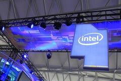 2013ChinaJoy: sito del gioco di Intel Fotografia Stock Libera da Diritti