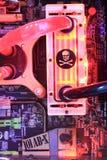 2013ChinaJoy: Telaio del liquido di XSPC Fotografia Stock
