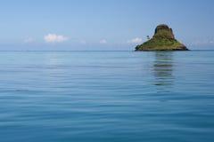 Chinaman's Hat North Coast Oahu. Hawaii North Coast Oahu Chinaman's Hat mountain blue ocean sky stock image