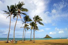 Chinaman's Hat, O'ahu, Hawaii Stock Images