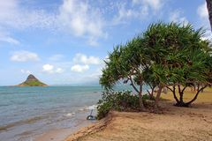 Chinaman's Hat, O'ahu, Hawaii Royalty Free Stock Photography