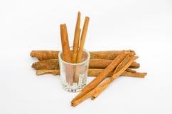 Chinamon. Cinnamon sticks isolated on white background Stock Photography