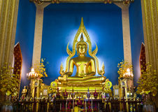 Chinarat Buddha statue. In Wat Benchamabiphit temple Stock Images