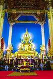 Chinarat Buddha statue in Wat Benchamabophit Royalty Free Stock Photos