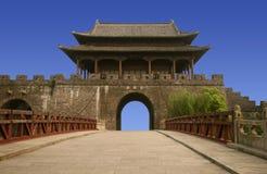 Chinas alter Stadt Kontrollturm Lizenzfreies Stockbild
