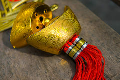 Chinas Goldverzierungen lizenzfreies stockbild