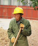 Chinas migrant workers. Beijing migrant workers on the construction site Royalty Free Stock Photography