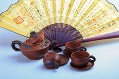 Chinas tea utensils Purple sand pot.  Royalty Free Stock Photo