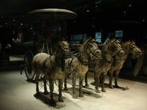 Chinas Terrakottakrieger und Pferde ausgegrabenes r Stockfotos