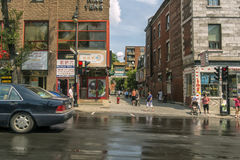Chinatown à Montréal image stock