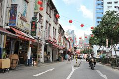 Chinatown à Singapour Images libres de droits