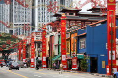 chinatown Σινγκαπούρη Στοκ Φωτογραφία
