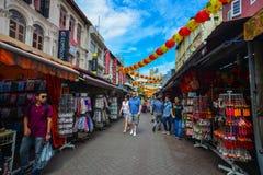 Chinatown της Σιγκαπούρης Στοκ Εικόνα