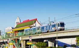 chinatown τραίνο σταθμών μετρό αναχώ&rh Στοκ Φωτογραφία