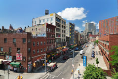 Chinatown. View of Division Street in the Chinatown district of New York City Stock Images