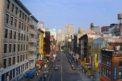 Chinatown. View of Division Street in the Chinatown district of New York City Royalty Free Stock Photography