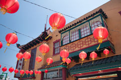 Chinatown. LOS ANGELES, CA - June 05,2010:  The colorful Chinatown on June 05, 2010. Officially Chinatown was founded June 25, 1938 in Los Angeles Royalty Free Stock Photo